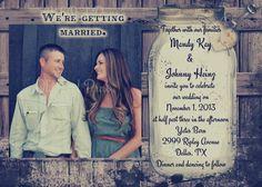 Rustic Wedding Invitation printable you print by OldOwlPress, $15.00
