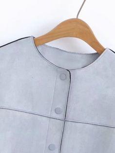 Button Up Seam Suede Jacket Suede Jacket, Button Up, Jackets, Fashion, Suede Moto Jacket, Down Jackets, Moda, Fashion Styles, Jacket