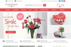 Florist Website Design | We Love Free PSD