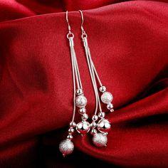 2019 New fashion Silver earring Sha Zhu Tassel Stud fb80ac907bd3