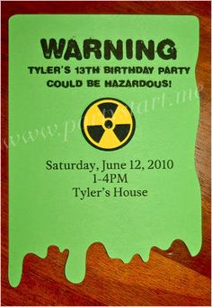 "Pamela Smerker Designs: ""Hazardous Teen Birthday"" {Real Party}"