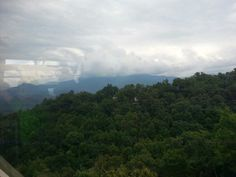 View from the Ober tram Gatlinburg Tennessee