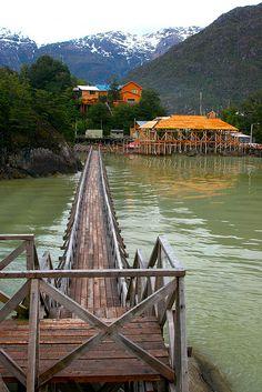 CHILE: Caleta Tortel, city of the boardwalks