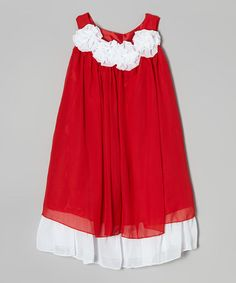Red & White Swing Dress - Infant, Toddler & Girls by Kid Fashion #zulily #zulilyfinds