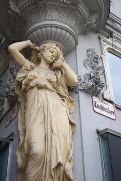classical-beauty-of-the-past:Caryatid by PeterGraben, Vienna