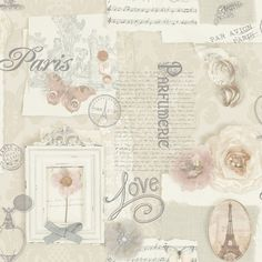 £7.99 GBP - Felicity Paris Wallpaper - Natural - Arthouse 665400 Butterfly Rose #ebay #Home & Garden