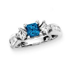 blue engagement ring - Buscar con Google