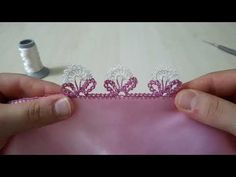 Saree Kuchu Designs, Lace Design, Heart Ring, Diy And Crafts, Jewelry, Youtube, Crochet Flowers, Lace, Craft