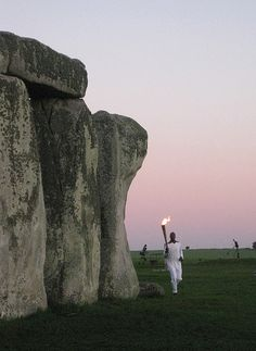 Michael Johnson at Stonehenge