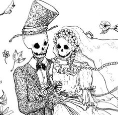 Hey, I found this really awesome Etsy listing at https://www.etsy.com/listing/65936671/day-of-the-dead-drawing-skeleton-bride