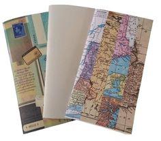 3 X Junk Journal Travelers Notebook Inserts  Mixed Paper Midori Notebook Insert Fauxdori insert Traveler NB Midori Accessory MULTI-PACK by BespokeBindery