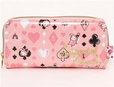 big pink Sentimental Circus wallet with playing cards