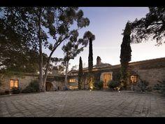 """Ellen DeGeneres and Portia de Rossi Selling """"The Villa"""" in Santa Barbara Ellen Degeneres And Portia, Ellen And Portia, Portia De Rossi, Porte Cochere, Ellen Degeneress, Santa Barbara House, Style Villa, Italian Villa, Mansions Homes"""