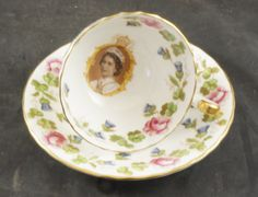 AYNSLEY Fine Bone China Cup and Saucer to Commemorate the Coronation of Queen Elizabeth ll in 1953 by RarebirdAntiques on Etsy