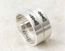 Vertical King and Queen Ring in sterling silver,Couples Ring--Custom Personalized Ring, Chess Piece