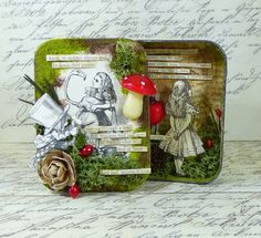 Just For One Day: Altered Tin Swap Altered tin by Paula Whittaker.