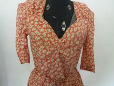 Vintage 1970s DressOrange Floralcute by SusieQsVintageShop on Etsy, $33.00