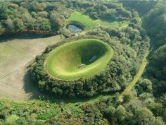 THE IRISH SKY GARDEN CRATER Photograph by Liss Ard Estate Located at the Liss Ard Estate Gardens in Cork County, Ireland; the James Turrell Irish Sky Garden Crater is an amazing sculptural land art installation by famed artist James Turrell. James Turrell, Cork Ireland, Ireland Travel, Places To Travel, Places To See, Travel Destinations, Beautiful World, Beautiful Places, Beautiful Gardens