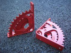 Bike Gear Shelf Brackets by ScrapyardArt on Etsy, $35.00