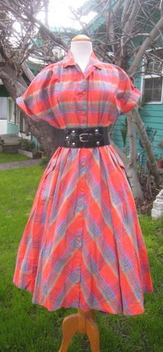 Vintage 1950s Style Dress From The 1980s ROCKABILLY by Flipsville, $40.00