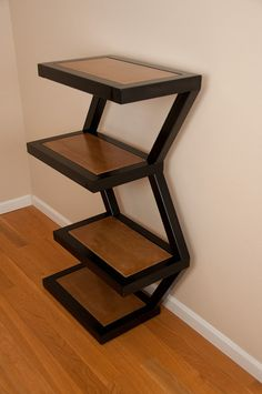 Zig Zag Display Shelf w/ Concrete by jt3steeldesigns on Etsy, $875.00