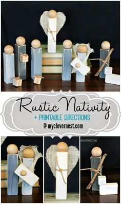 This is my favorite Nativity of all time, totally digging the rustic look and the grays. Too bad my husband wouldn't let me near the power saw. Apparently he prefers me with all my fingers still attached. #woodennativity #diynativity #clevernest