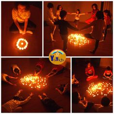 Yoga para niños a la luz de las velas. Kids yoga Yoga For Kids, My Yoga, Mini Me, Light Table, Pumpkin Carving, Ideas Para, Toddler Yoga, Yoga Workouts, Fathers