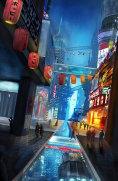 ArtStation - Matte Painting - Futuristic City, Jieh You Koh