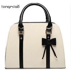 longmiao Women Handbag Shell Bags Candy Color Lady Handbag Fashion Korean Shell Designer Handbags with Bow Sac a Main Marques