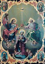 Nicolae Grigorescu - Manastirea Caldarusani - Sfanta treime si incoronarea Fecioarei - Mănăstirea Căldărușani - Wikipedia