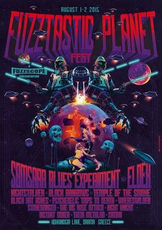 Fuzztastic Planet Festival 2015 Poster