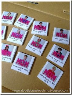 Cute Mother's Day magnet with modge podge