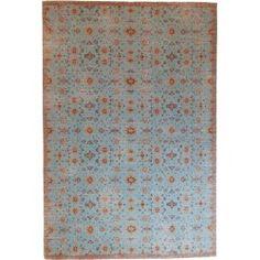 Vintage Lilli Blue - Lavender & Rosemary  #vloerkledenloods #vintage #rugs