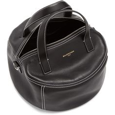 Air Hobo small leather tote Balenciaga MATCHESFASHION.COM ❤ liked on Polyvore featuring bags, handbags and tote bags