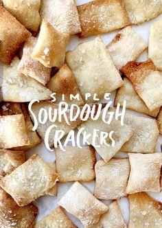 Pantry Staples: Simple Sourdough Crackers | The Fresh Exchange | Bloglovin'