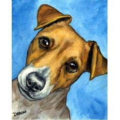 Items similar to Jack Russell, Russell terrier, Terriers, Dog Art Print of Original Painting by Dottie Dracos on Etsy Jack Russell Terriers, Animal Paintings, Animal Drawings, Dog Face Drawing, Peacock Wall Art, Watercolor Animals, Dog Tattoos, Dog Portraits, Dog Art