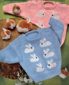 VINTaGE EASTER AnD SPRInG BaBY BUNNIES BaBIES por Crafting4Ever2013