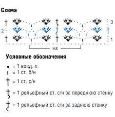 схема вязания узора крючком 20