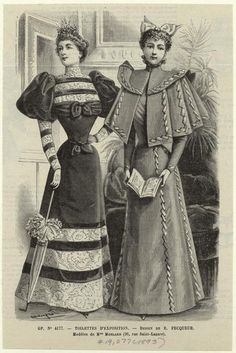 turn of the century fashion plate