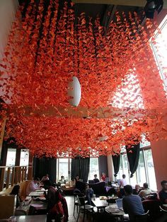 Image result for origami suspended art