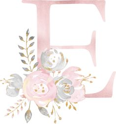 Discover recipes, home ideas, style inspiration and other ideas to try. Flower Letters, Flower Frame, Monogram Letters, Letters And Numbers, Watercolor Lettering, Floral Watercolor, Wallpaper Backgrounds, Iphone Wallpaper, Flower Backgrounds