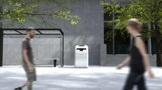 Bin-e in smart city environment; #bin-e; #smart; #city; #eco; #ecology, #segregation, #garbage