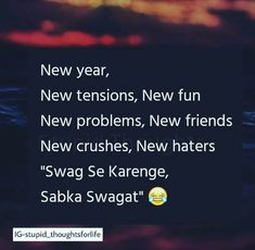 Friendship Quotes QUOTATION – Image : Quotes about Friendship – Description Swag se krege sabka swagat Sharing is Caring – Hey can you Share this Quote ! Stupid Quotes, Funny Quotes In Hindi, Funny Attitude Quotes, Funny True Quotes, Crazy Quotes, Girly Quotes, Happy Quotes, Life Quotes, Qoutes