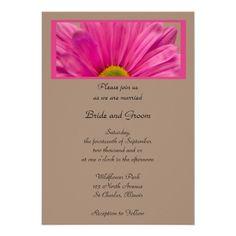 Pink Gerber Daisy Wedding Invitation... or design for the program?
