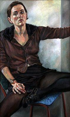 DEBORAH POYNTON Self-Portrait with Fur Collar (2014) - love it