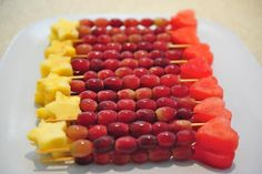 fruit wands - love the snack ideas for this princess party!