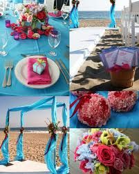 Teal and Pink wedding colors