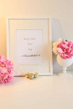 Real Gold Foil Print Keep Calm and Say by MoonOrchids on Etsy