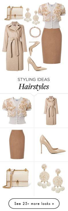 """Nudes"" by styledbytjohnson on Polyvore featuring MaxMara, Blumarine, Gianvito Rossi, Fendi and Humble Chic"