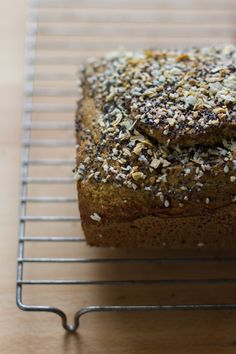 Gluten-Free Rosemary Everything Quick Bread | edible perspective
